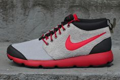 Nike Roshe Run Trail | Wolf Grey/Gym Red | Sole Collector