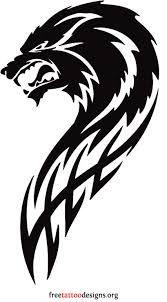 Resultado de imagem para tribal wolf tattoo