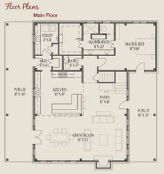 timber frame farmhouse floor plan. Love this layout, but wouldn't want the second story!!!