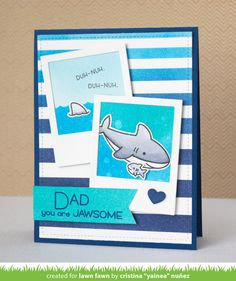 Yainea has a super cute Father's Day card and video tutorial to share with us today! She'll show us how she alters the little fish in Duh-...