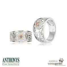 These pretty floral rings are from Anthonys Fine Jewellery.