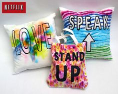 Anti-Bully Sharpie Tie-Dye Pillow or Tote Bag – Netflix Teen Projects, Cool Diy Projects, Project Ideas, Crafts For Teens, Crafts To Do, Sharpie Tie Dye, Tie Dye Party, Anti Bullying, Bullying Quotes