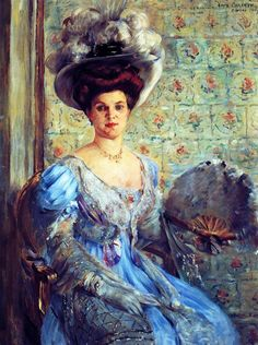 """Portrait of Eleonore von Wilke, Countess Finkh"": Lovis Corinth"