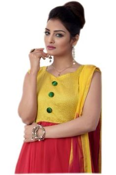 Latest Red and Yellow Anarkali Suit, http://www.junglee.com/dp/B00KJEB11O/ref=cm_sw_cl_pt_dp_B00KJEB11O