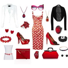 """""""lady in red"""" by josiriou on Polyvore"""