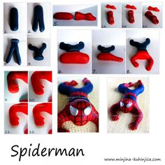 Spiderman fondant tutorial - For all your cake decorating supplies, please visit… Cake Topper Tutorial, Fondant Tutorial, Fondant Figures, Cake Decorating Techniques, Cake Decorating Tutorials, Decorating Supplies, Fondant Toppers, Fondant Cakes, Fondant Bow