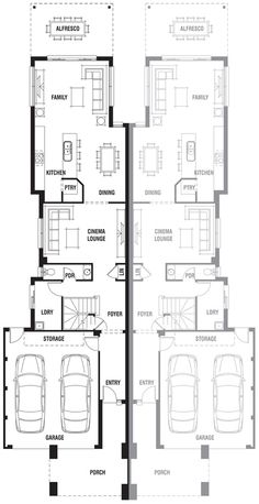 Dual occupancy house plans google search townhouses for Dual living house plans