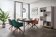 Stuhl in Dunkelgrau online bestellen Office Desk, Furniture, Home Decor, Living Area, Armchairs, Dinner Room, Homes, Desk Office, Desk