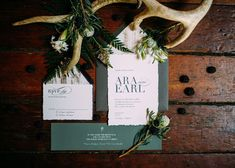 Moody wedding colors are excellent for setting the tone of a winter wedding, as seen with a forest green and white stationery suite.- gothic + Halloween wedding inspiration Winter Wedding Receptions, Fall Wedding, Wedding Themes, Wedding Colors, Wedding Ideas, Wedding Decor, Green And Burgundy Wedding, Burgundy Wedding Invitations, Pastel Colour Palette