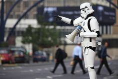 Stormtroopers from VW's Darkside invade Shoreditch, London