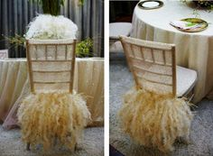 gold chair covers from wildflower linen