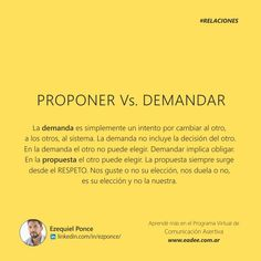 PROPONER VS. DEMANDAR  COMUNICACION ASERTIVA ASERTIVIDAD RELACIONES EZEQUIEL PONCE  WWW.EADEE.COM.AR WWW.EADEE.COM