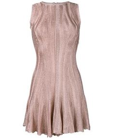 ALEXANDER MCQUEEN - Sleeveless Flute Mini Dress