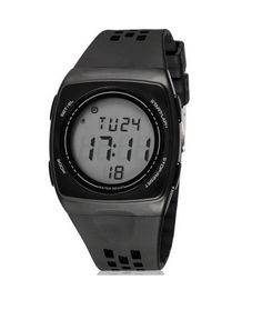 Boys Girls Students Cool Personality Ultra Thin Electronic Sport Watches Black. Japanese High quality movement with rubber band. Multi function(Alarm,calendar,luminous). Water Resistant to 30 metres (not for diving and do not press button under water). Pack: 1 pcs watch. Fashion watch gift for your friends and children.