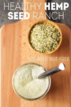 This healthy ranch dressing is made with hemp seeds and a few other simple ingredients! It's so creamy and tastes indulgent, but is totally dairy-free and oil-free. Delicious Vegan Recipes, Raw Food Recipes, Yummy Food, Healthy Recipes, Keto Recipes, Dinner Recipes, Healthy Ranch Recipe, Vegan Vegetarian, Vegetarian Recipes