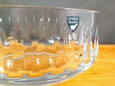 Vintage Orrefors Sweden clear crystal glass bowl by by MintStuudio