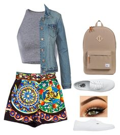 """""""shorts are weird but they're Dolce & Gabanna so..."""" by mariahnavarro ❤ liked on Polyvore featuring Dolce&Gabbana and Vans"""