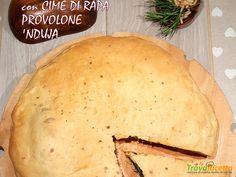 Focaccia Farcita con Cime di Rapa, Provolone e 'Nduja  #ricette #food #recipes