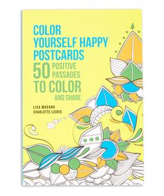 Another Great Find On Zulily Color Yourself Happy Postcard Book Zulilyfinds
