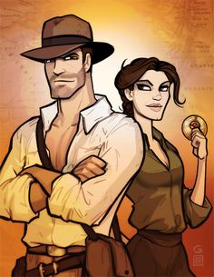 Indy and Marion by grantgoboom.deviantart.com