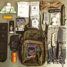 IF you want to SURVIVE here are FIVE things you MUST have in your #bugoutbag or #gethomebag. 1) Water purification methods 2) Fire starting kit 3) Quality survival knife 4) First aid kit 5) Multitool Credit @griddownprepper from their great book Survival Theory: A Preparedness Guide by Jonathan Hollerman