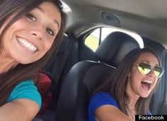 Collette Moreno, left, took one last selfie with best friend Ashley Theobald, right, minutes before Moreno was killed in a car crash. Missouri, Selfies, Mirrored Sunglasses, Sunglasses Women, Royal Palm Beach, Selfie Stick, Italian Girls, Rare Photos, Death