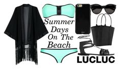 """""""Beach Day"""" by j-n-a ❤ liked on Polyvore featuring Yves Saint Laurent, Sonix, Athleta and Topshop"""