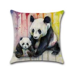 Panda Throw Pillow Cover