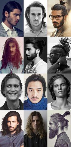 Peinados de hombre para cabello largo: 2015