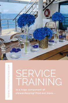Service is a massive part of being a yacht stewardess. Here is a service training guide for you :) Wine Station, Table Etiquette, Travel Jobs, Fridge Organization, Gold Vases, Napkin Folding, Wine Fridge, Big Hugs, Take A Seat