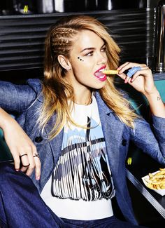 Hailey Clauson by Ben Watts for Cosmopolitan US April 2015