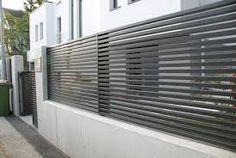 Risultati immagini per modern fence designs metal with concrete walls