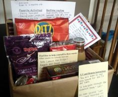 Create a babysitter box that includes information and snacks to help make your babysitter feel at home.