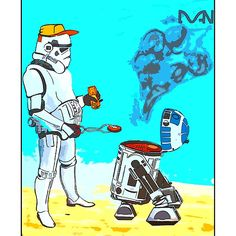 Stormtrooper griddle! Griddles, Robots, Street Art, Comic Books, Comics, Cover, Robot, Cartoons, Cartoons