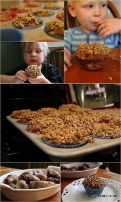 Strawberry Streusel Muffins by @Paleoparents