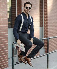 Look social usando sapato do estilo Monk Strap.