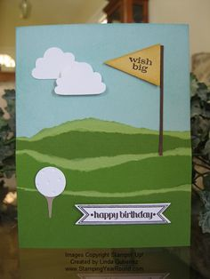 22 Trendy Ideas For Birthday Themes For Men Dads Masculine Cards Golf Birthday Cards, Homemade Birthday Cards, Homemade Cards, Masculine Birthday Cards, Masculine Cards, Golf Cards, Karten Diy, Retirement Cards, Fathers Day Cards