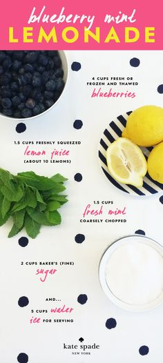 #charmcolorfully blueberry mint lemonade