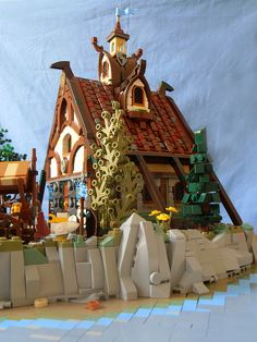 Island of Catan (Town Hall side view) by Simon NH Chateau Lego, Amazing Lego Creations, Medieval Houses, All Lego, Lego Storage, Lego Worlds, Lego Group, Lego Architecture, Lego Creator