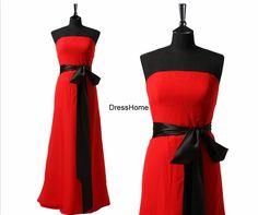 Bridesmaid Dress  Long Bridesmaid Dress / Red by DressHome on Etsy, $89.99