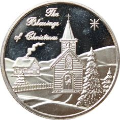 2004 The Blessings of Christmas - 1 oz Silver Art Round Pure) Silver Rounds, 1 Oz, Blessings, Holiday Gifts, Great Gifts, Blessed, Pure Products, Personalized Items, Christmas