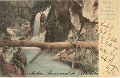 A 21-a piesă, o senzație a colecției, clasică și nedivizată! A circulat la Budapesta în 1907 către Fräulein Gisela Böhm, urmând ca, 108 ani mai târziu, să se întoarcă în țara de origine. Deși textul din dreapta ne transmite salutări din Bozovici, cartea poștală nu are imortalizată o imagine din Bozovici efectiv, ci de la cascada Bigăr, unul dintre punctele de atracție din apropierea comunei.  (Bozovici. old postcards. vintage postcards) #descoperabozovici Vintage Postcards, Painting, Collection, Art, Waterfall, Vintage Travel Postcards, Art Background, Painting Art, Paintings