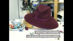 Felt Hat Course by Elena Shvab Millinery, London #millinery #felthat #ha... Felt Hat, London, Couture, Hats, How To Wear, Fashion, Moda, Fedora Hat, Hat