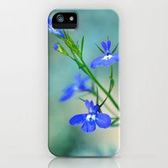 Blue Lobelia  iPhone & iPod Case by Teresa Chipperfield Studios - $35.00