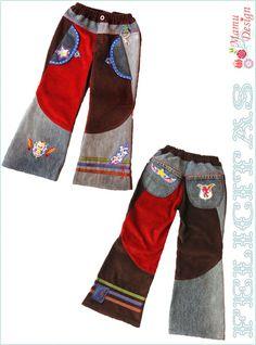 Felicitas patroon broek meisjes, poppen en jongens van Mamu Design op DaWanda.com