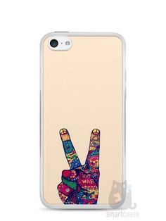 Capa Iphone 5C Paz e Amor - SmartCases - Acessórios para celulares e tablets :)