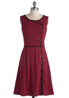 Chord-ially Yours Dress in Magenta | Mod Retro Vintage Dresses | ModCloth.com