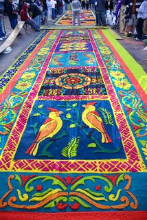 GUATEMALA - these are sawdust carpets. I want to see these live and in color. Central America, South America, Corpus Christi, Guatemalan Art, Guatemala City, Celebration Around The World, Rug Inspiration, Magic Carpet, American Country