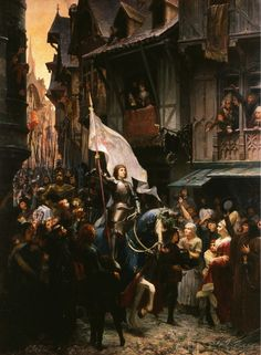 enchantedsleeper:  Entree de Jeanne d'Arc à Orléans (1887), Jean-Jacques Scherrer