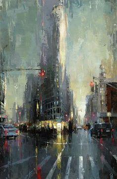 "Daily Paintworks - ""NYC - Flatiron"" - Original Fine Art for Sale - © Victor Bauer"